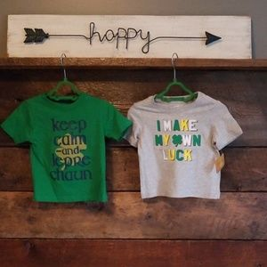 St. Patrick's Day Shirts 12-18 Months